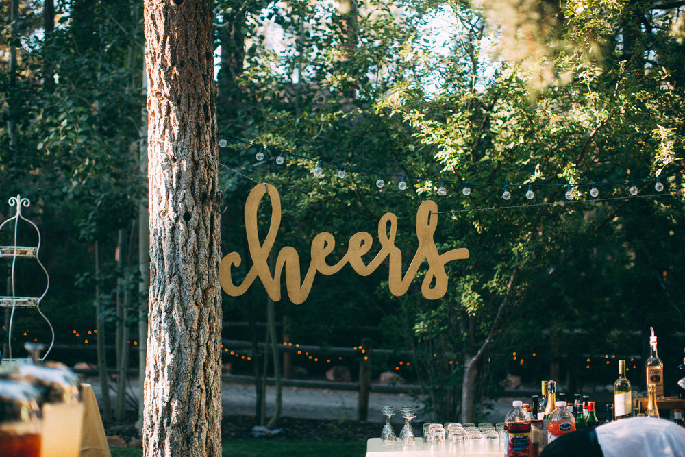Cheers Wood Sign - (1)