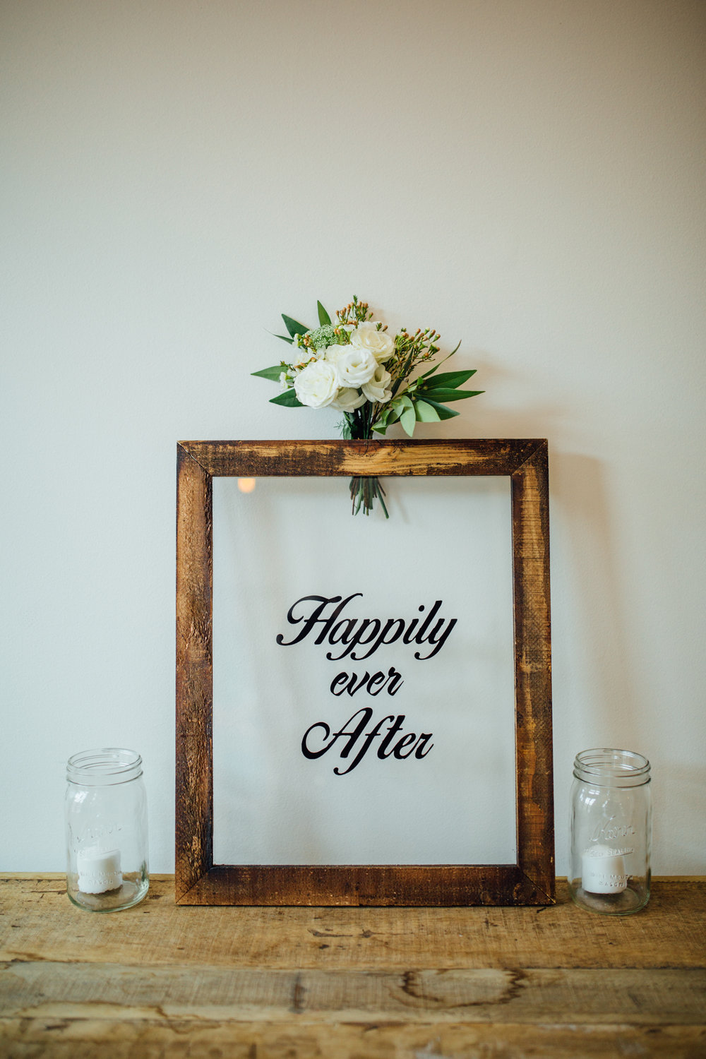 Happily Ever After Glass Sign - (1)