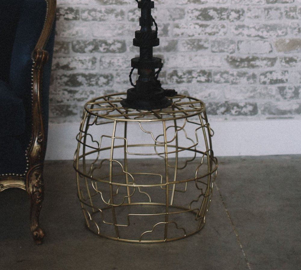 Gold Side Table - (2)