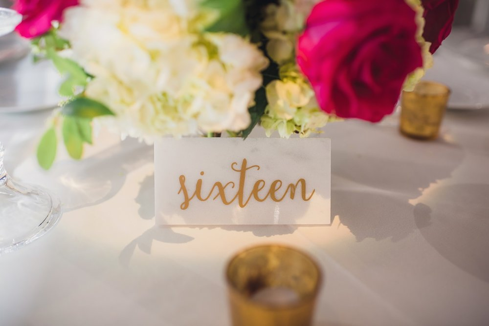 Marble Table Numbers - (1-20)