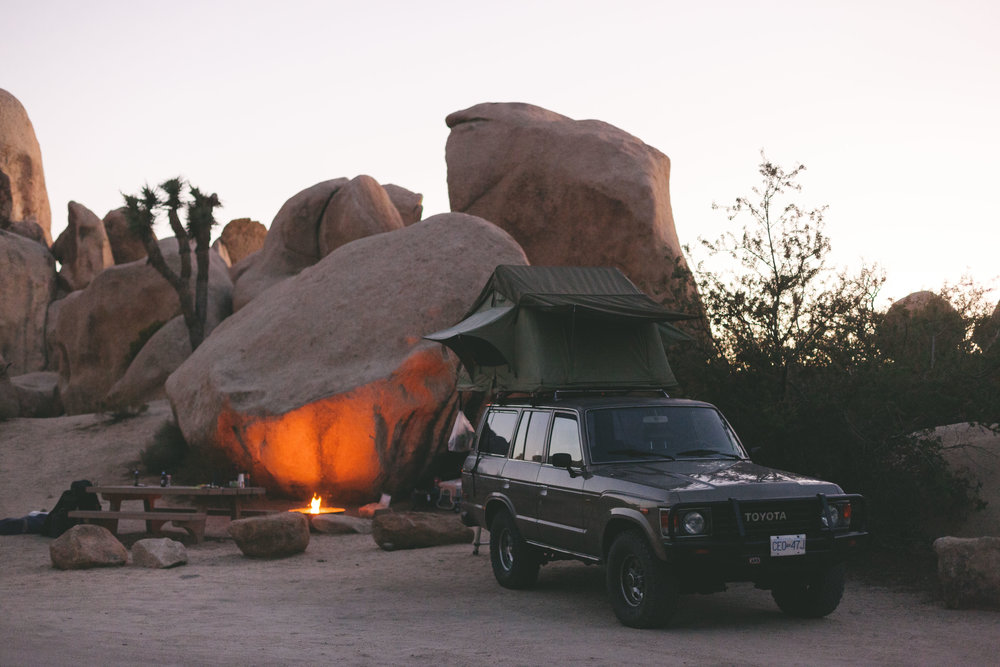 Our camp spot in Joshua Tree