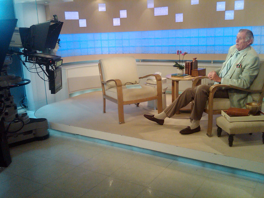 Frank Deford on set at Today.jpg