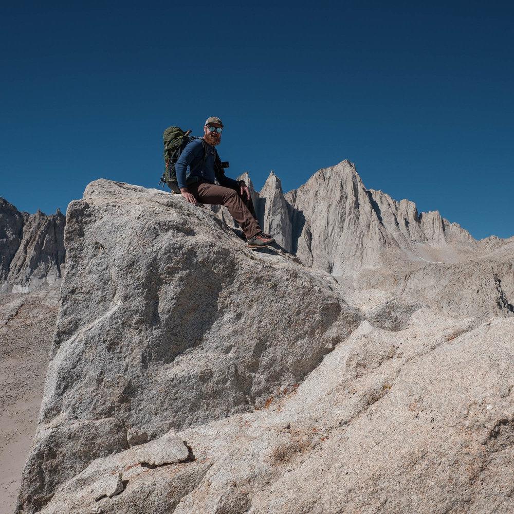 Brian Lipps on the Peak of Thor Peak