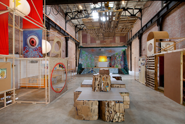 Interior installation view,  University of Trash , 2009, dimensions variable. Photo: Jason Mandella