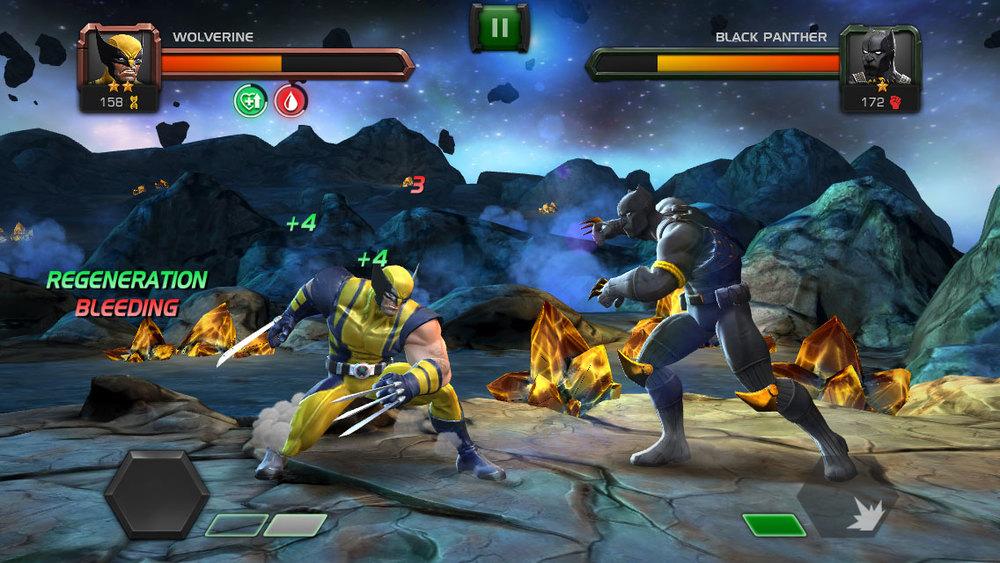 1 vs. 1 combat in Marvel CoC