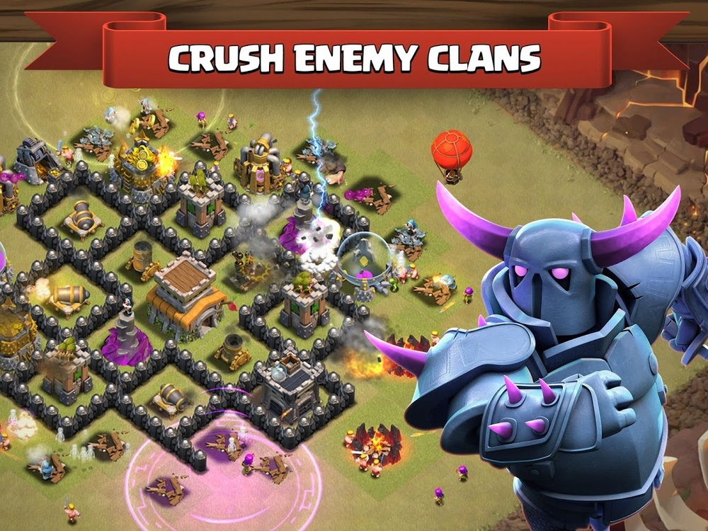 Multiplayer is the focal point of Clash of Clans
