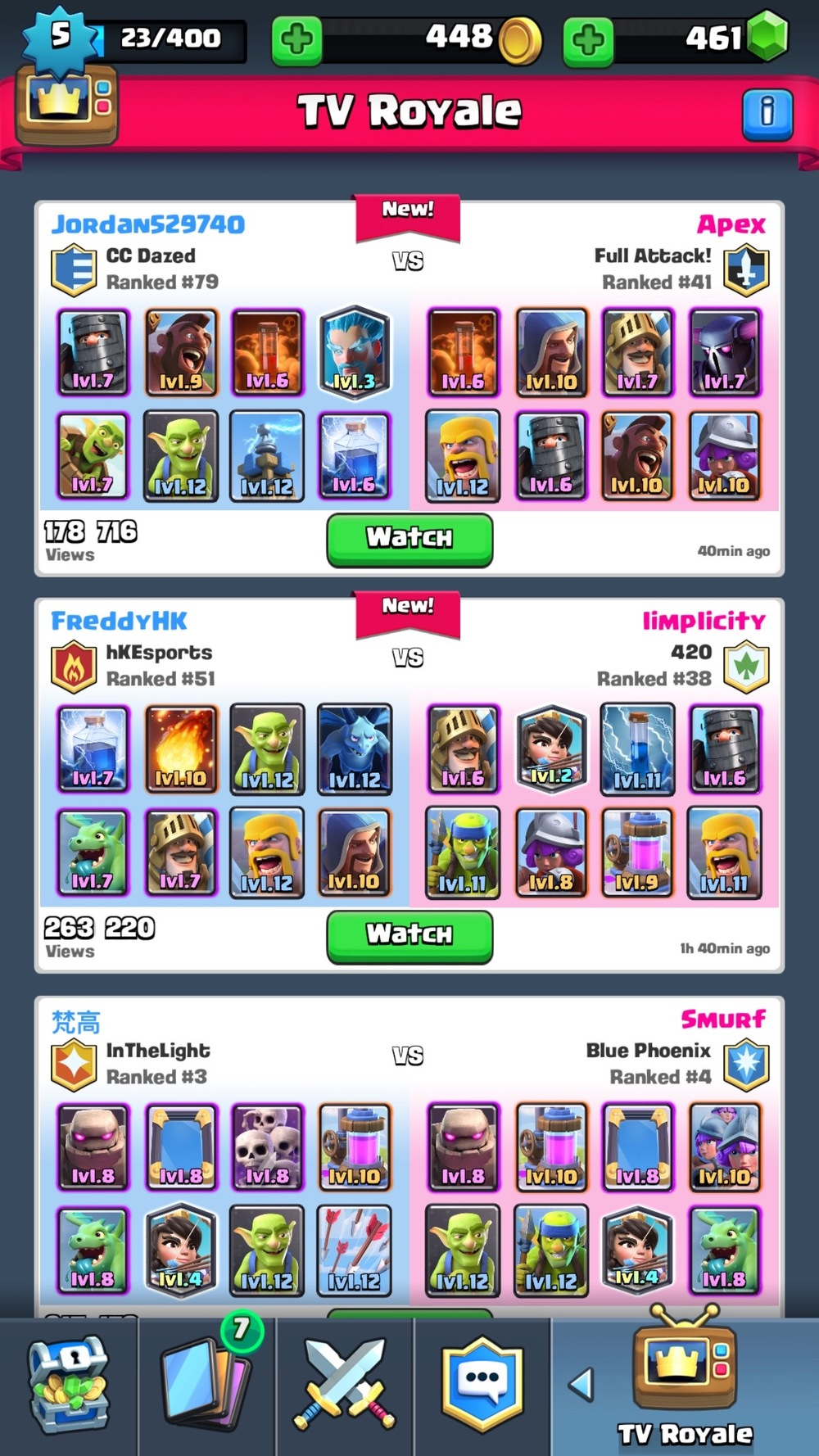 TV Royale showcases high level matches to help teach players