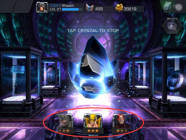 Marvel Contest of Champions' successful implementation of a Gacha system to randomize rewards