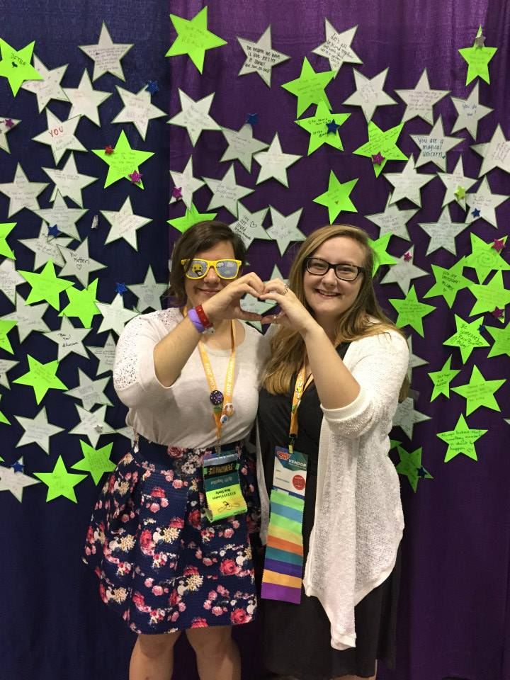 Emily and Celine at Geekycon