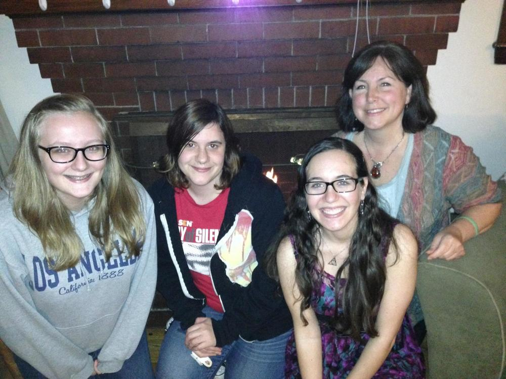 The first four TSWGO staff members in 2012. Celine, Emily, Arielle and Lori Earl