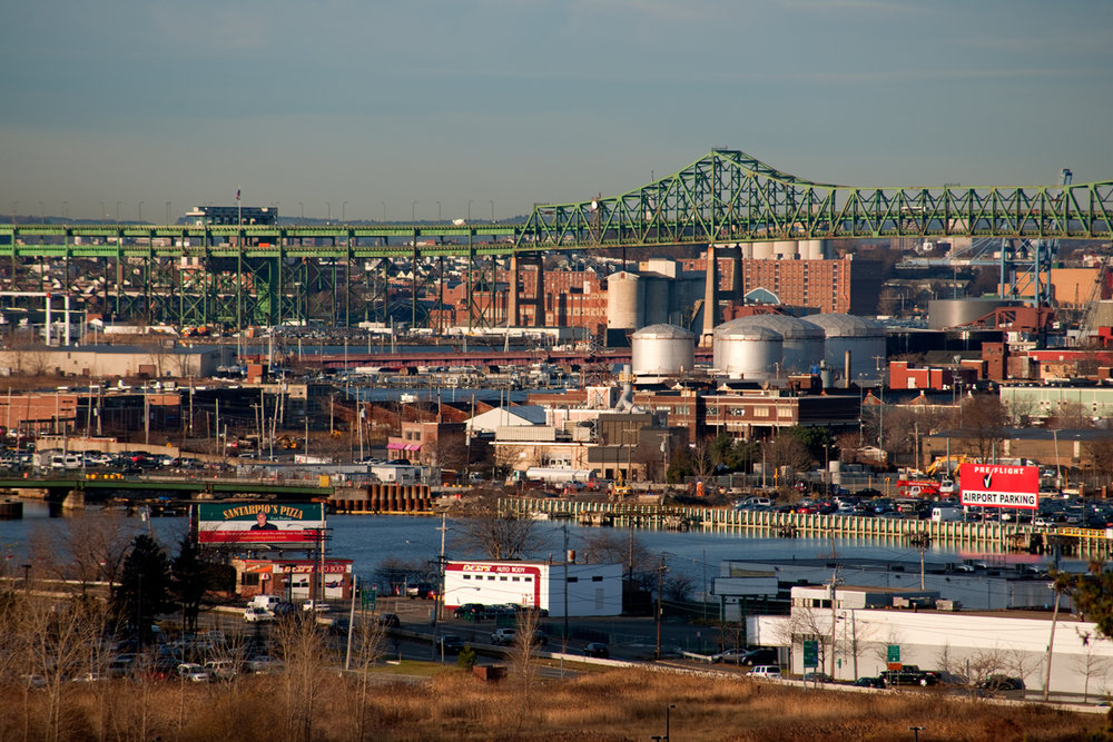 The Tobin Bridge and Chelsea Creek. Photo by Mark Peterson.