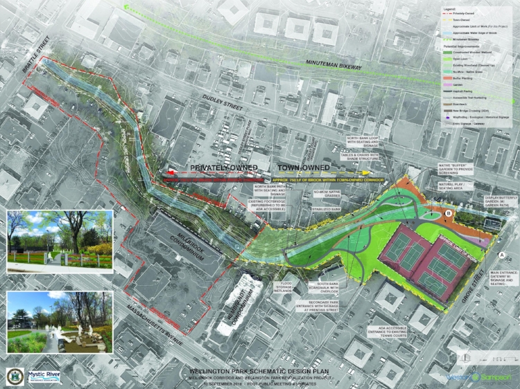 Schematic Design: Mill Brook Corridor and Wellington Park Revitalization Project