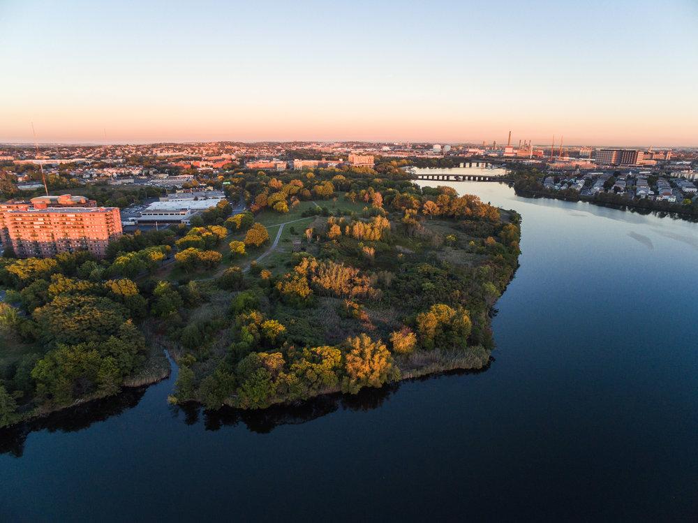 Aerial view of Macdonald Park. Credit: Jon Collier