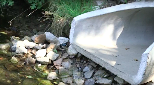 Stormwater outfall on river. Where the stormwater comes out at the end of stormwater pipe networks. Photo: MyRWA.