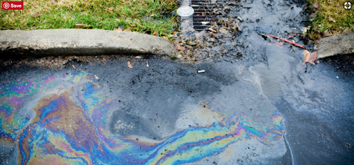 Oil carried by stormwater. Photo credit: Neponset River Association.
