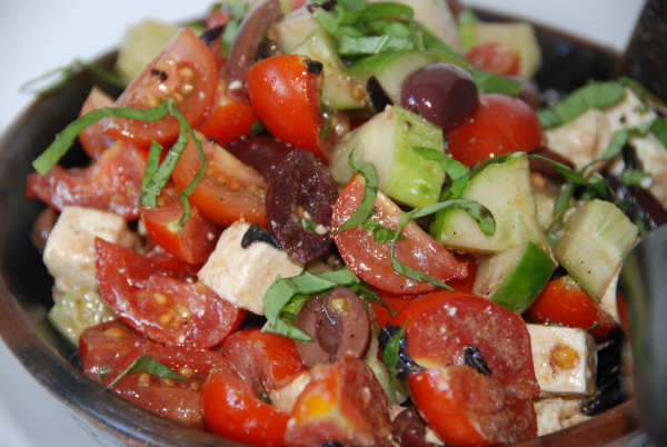 Cucumber, Tomato, Olive and Feta Salad
