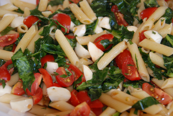 Fresh Tomato Pasta with Basil and Bocconcini