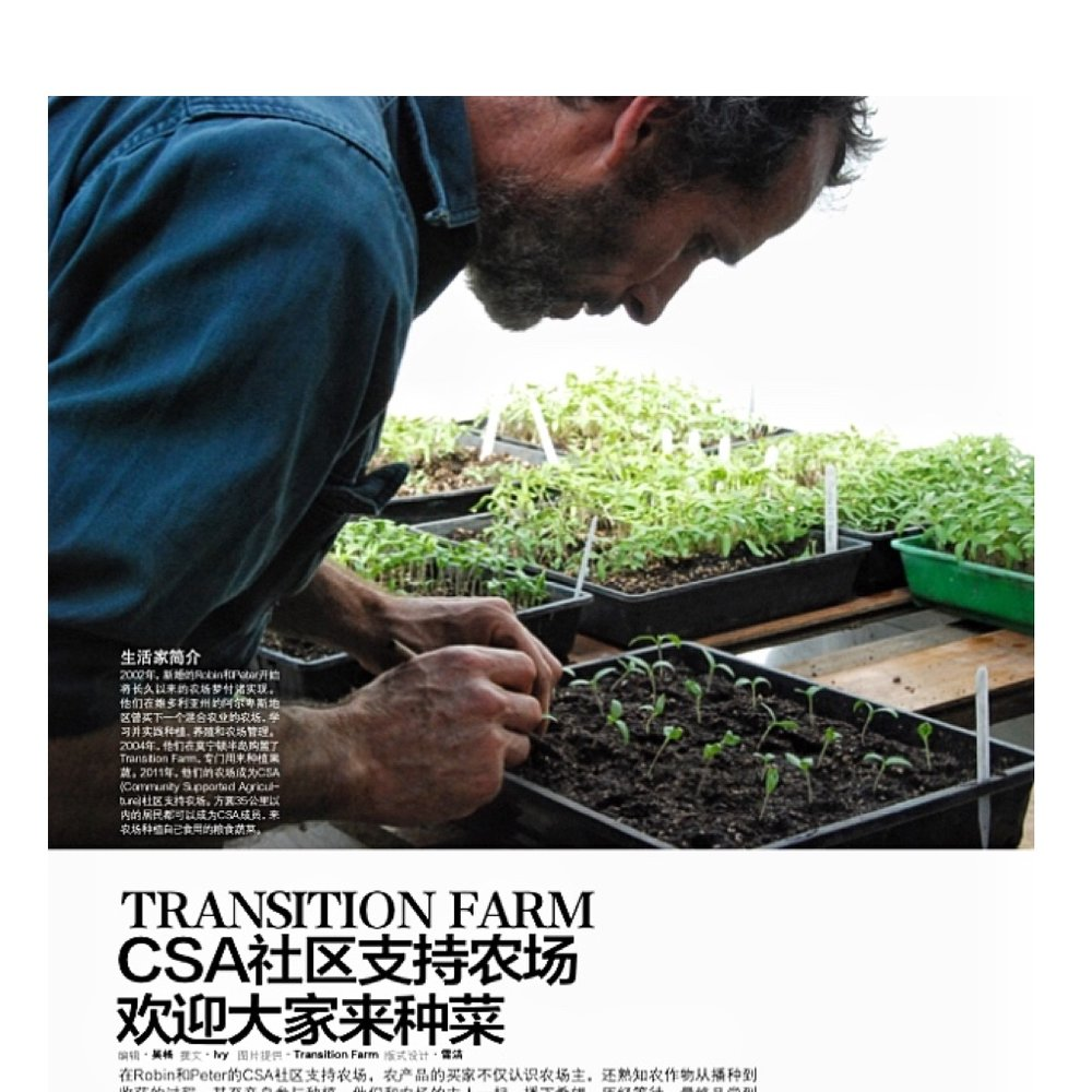 BETTER HOMES AND GARDENS - JUNE 2016 ARTICLE ABOUT Community supported agriculture, small scale farming and chemical free food IN BETTER HOMES AND GARDENS (china)