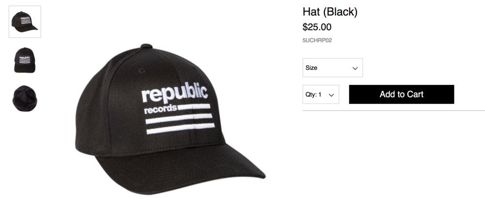 Republic Records Merch- Product Shot