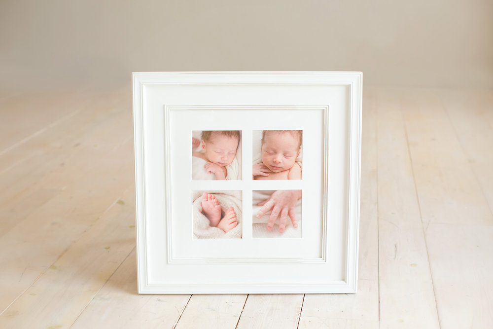 Louisville KY newborn family maternity photographer | Julie Brock Photography | Framed Artwork ideas for newborn photographs
