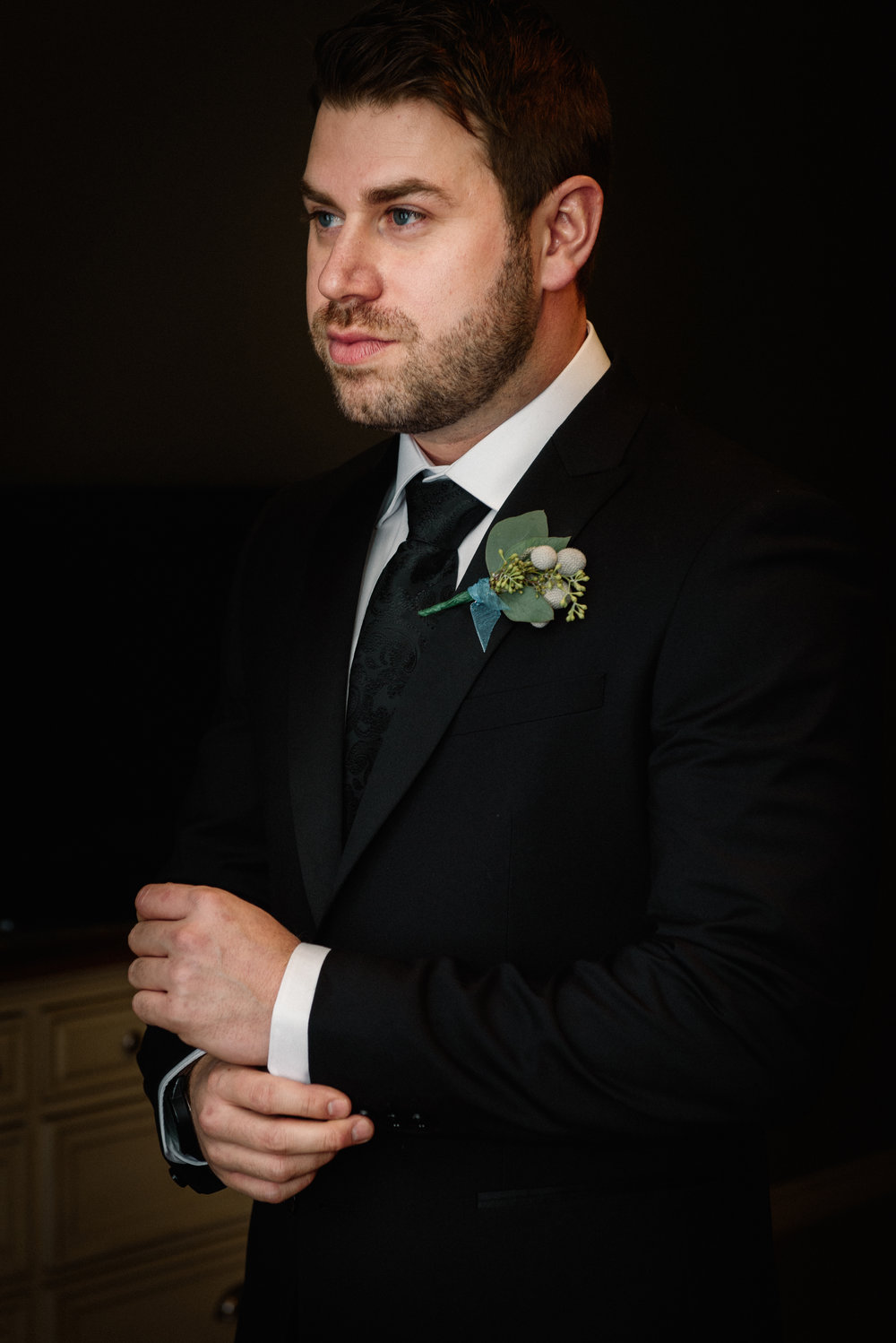 Groom Portrait Strathemere Wedding