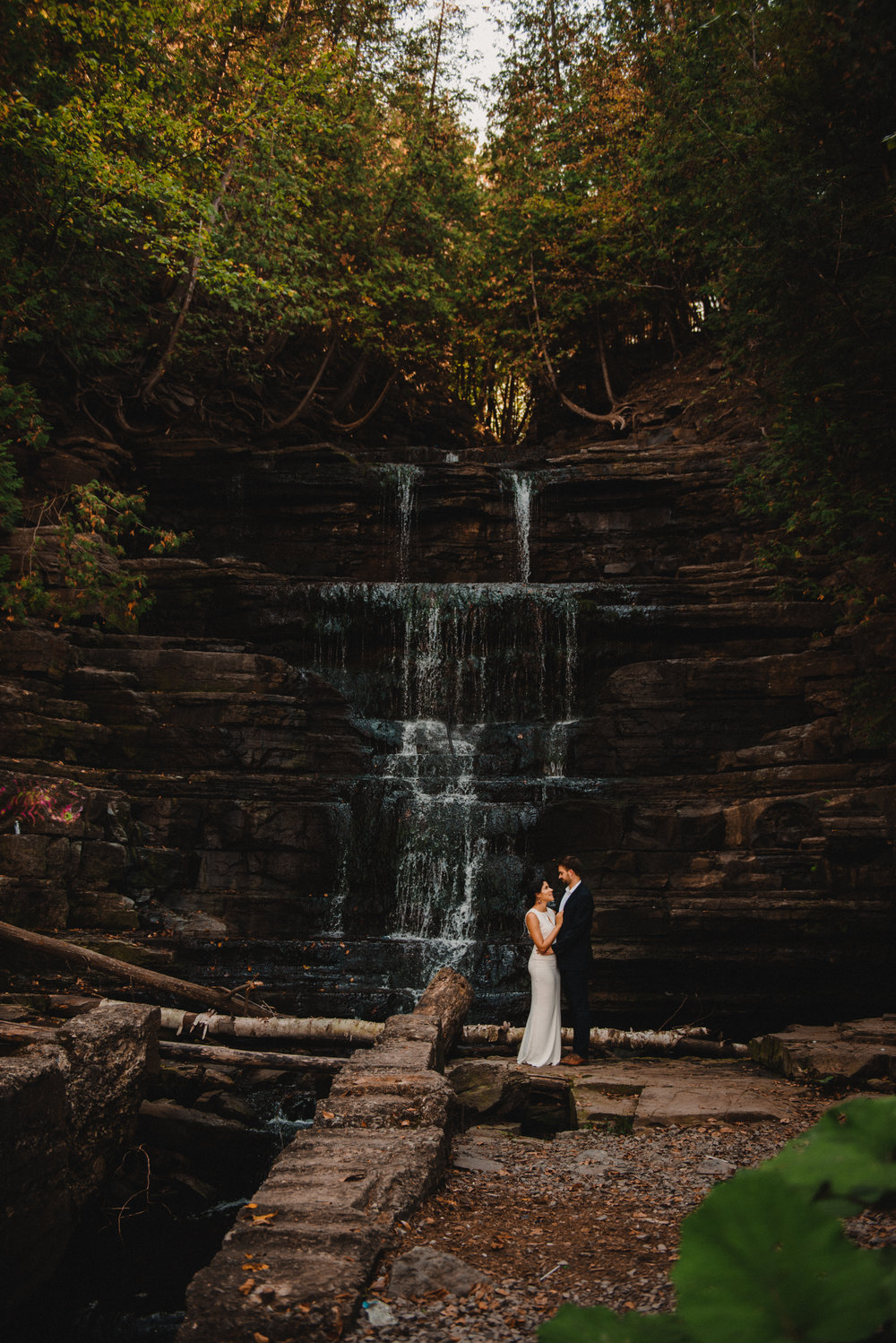 Mocha Tree Studios Ottawa Wedding and Engagement Photographer and Videographer Dark Moody Intimate Authentic Modern Romantic Cinematic Best Candid Princess Louise Falls 3