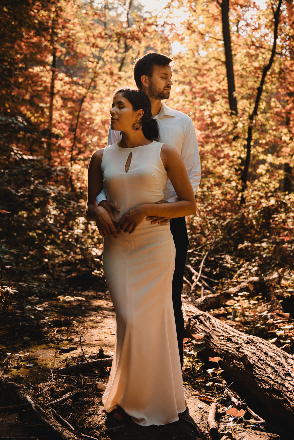 Mocha Tree Studios Ottawa Wedding and Engagement Photographer and Videographer Dark Moody Intimate Authentic Modern Romantic Cinematic Best Candid Princess Louise Falls 9