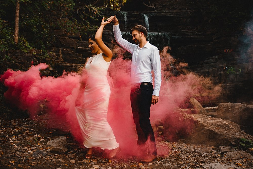 Princess Louise Engagement Smoke Bombs