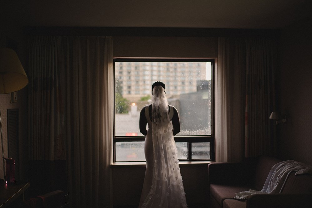 Ottawa Downtown Wedding Rainy Day