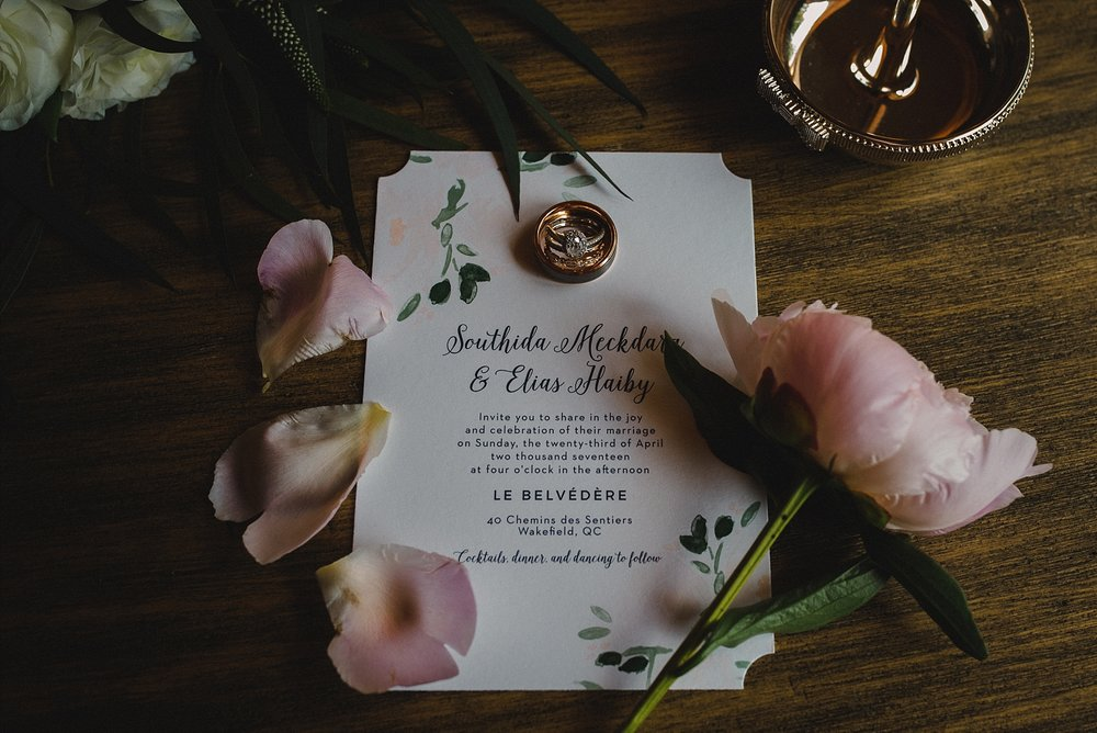 Le Belvedere Wedding invitation