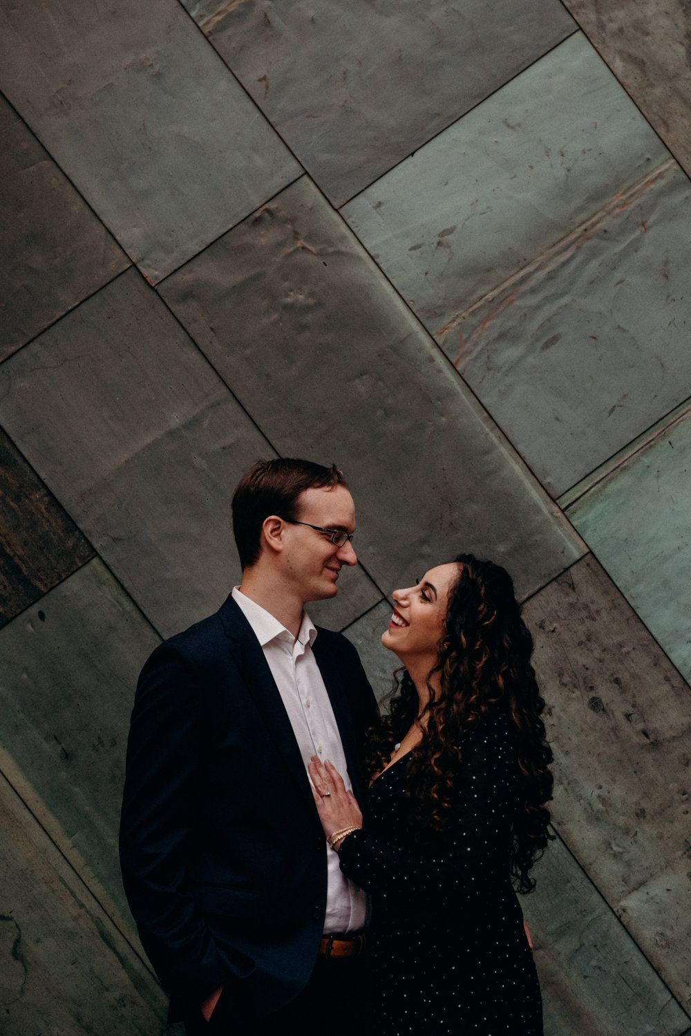 War Museum Engagement Picture Mocha Tree Studios Ottawa Toronto Montreal Wedding and Engagement Photographer and Videographer Dark Moody Intimate Authentic Modern Romantic Cinematic Best Candid 2