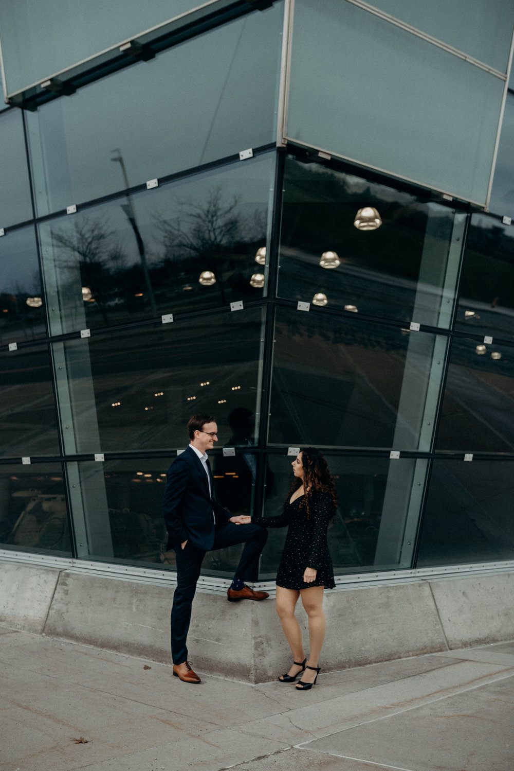 War Museum Engagement Picture Mocha Tree Studios Ottawa Toronto Montreal Wedding and Engagement Photographer and Videographer Dark Moody Intimate Authentic Modern Romantic Cinematic Best Candid 3