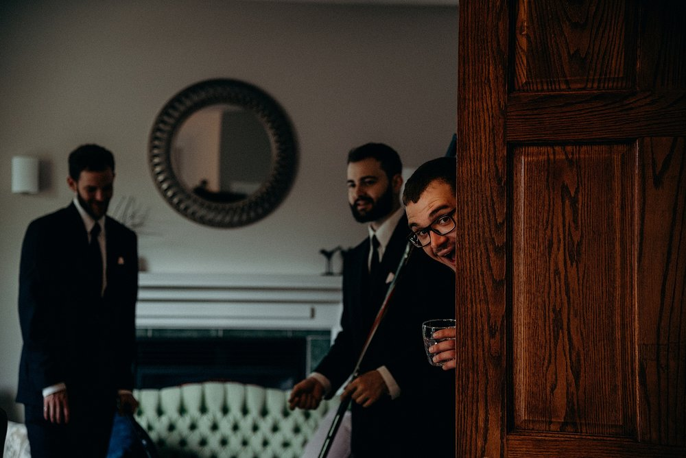 Saunders Farm Wedding Mocha Tree Studios Ottawa Toronto Montreal Wedding and Engagement Photographer and Videographer Dark Moody Intimate Authentic Modern Romantic Cinematic Best Candid Groom Getting Ready 15