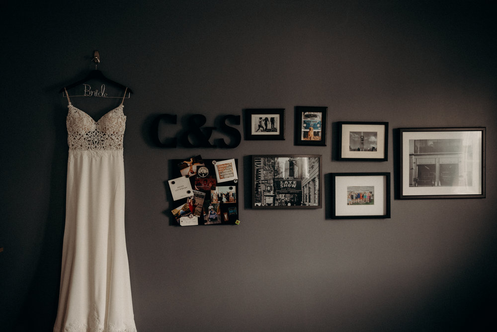 Chelsey and Spencer Wedding Dress Shot