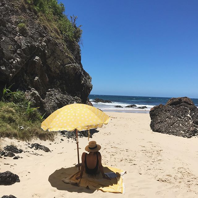 When you get the perfect day, at the most amazing secluded beach and you can stay all day long because you're under favourite beach brolly. Does it get any better?