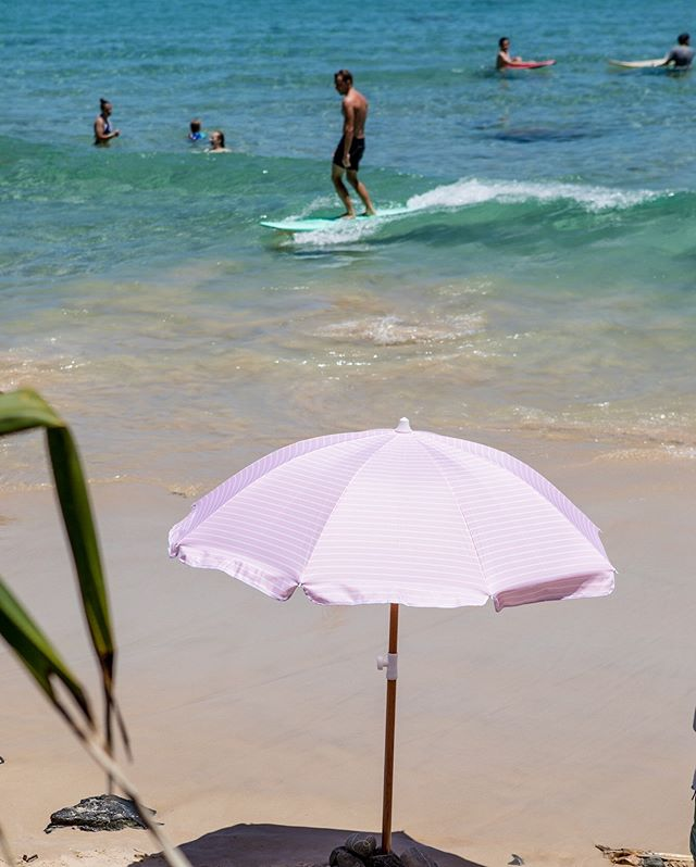 Long Mal rides and shady days under the Candy Beach Umbrella.