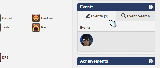 "Step 1: Navigate to the Events side-bar click on the ""Events"" button!"