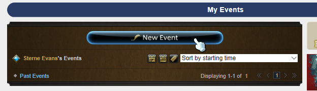 "Step 2: Find the ""New Event"" button and click it!"