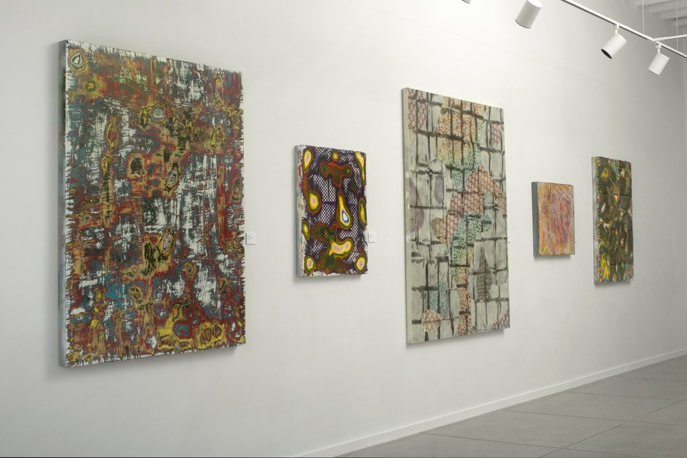 Exhibition view of  Unexplored Territories , featuring works by Charley Alexander