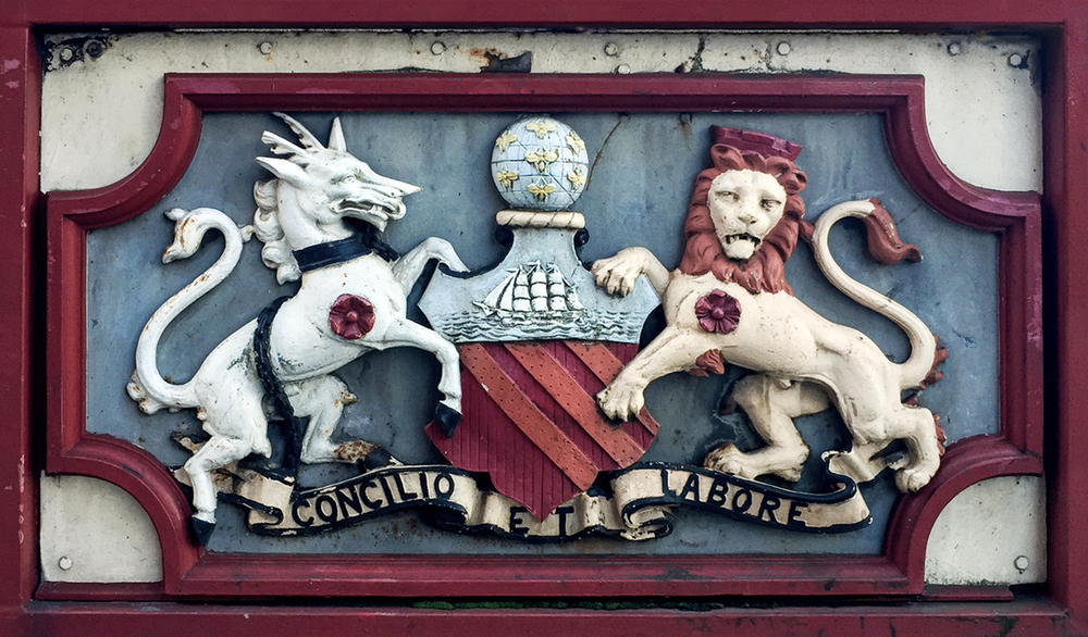 Manchester Coat Of Arms on Irwell Street Bridge