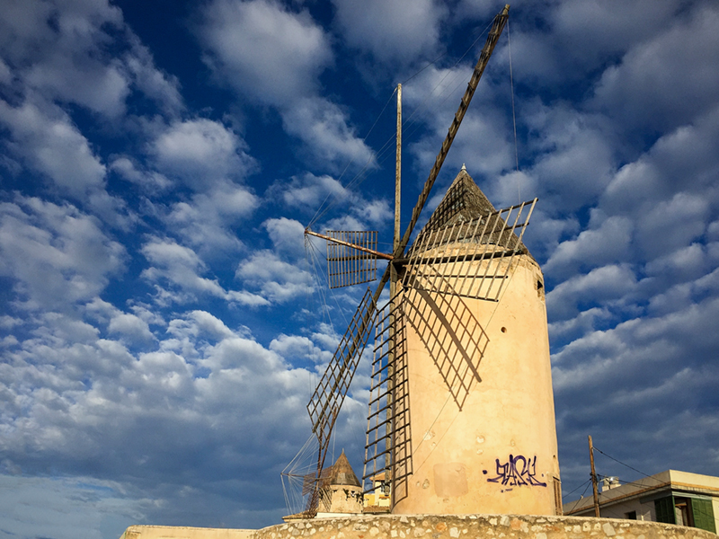 Palma Old Windmill iPhone 6 Plus image