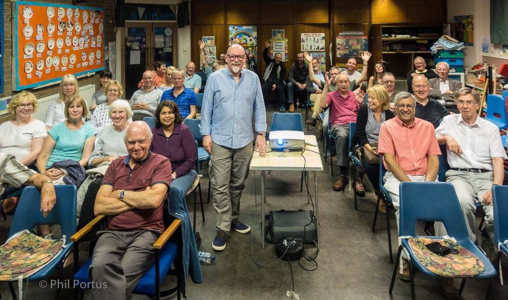Photograph of my presentation to South Manchester Camera Club, June 2016, taken by  Phil Portus