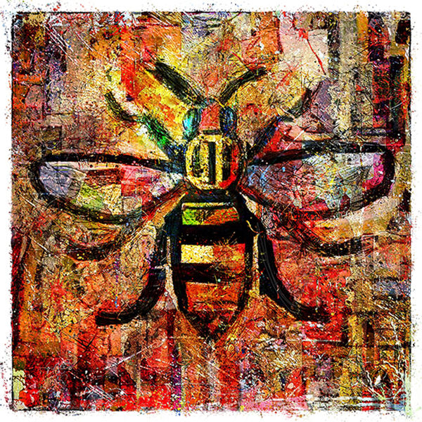 Manchester Worker Bee Art Adrian Mcgarry