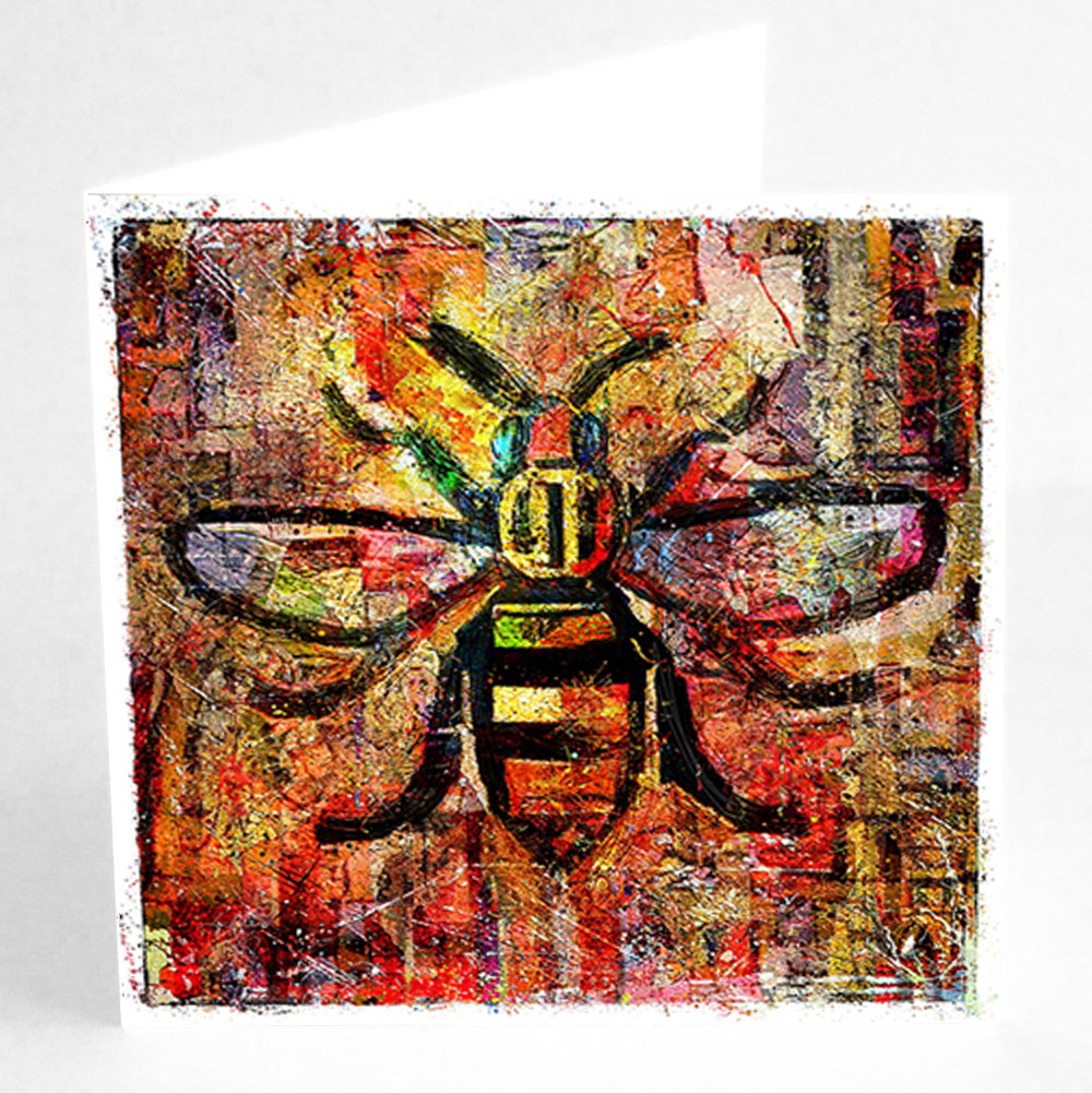 Square Greetings Card Urban Bee.jpg