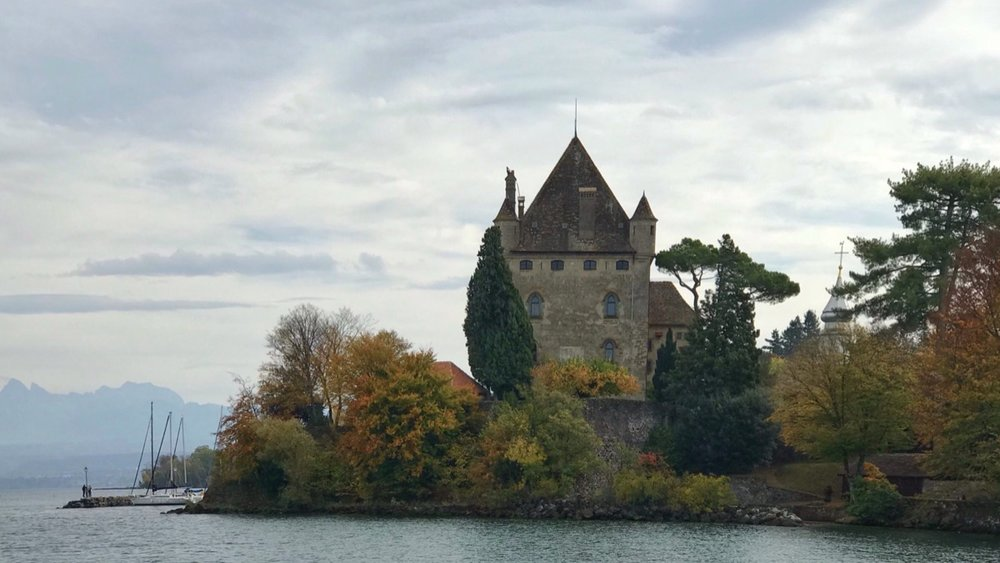 The medieval village of Yvoire on the French shore of Lake Geneva.