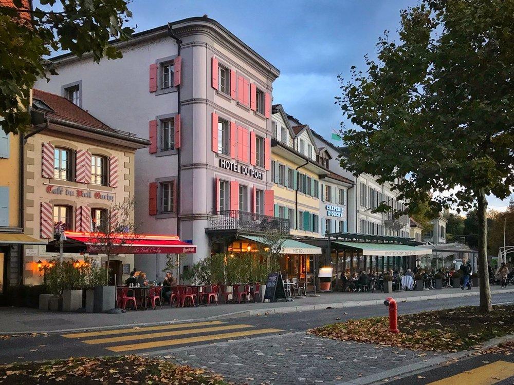 Café culture in Lausanne.