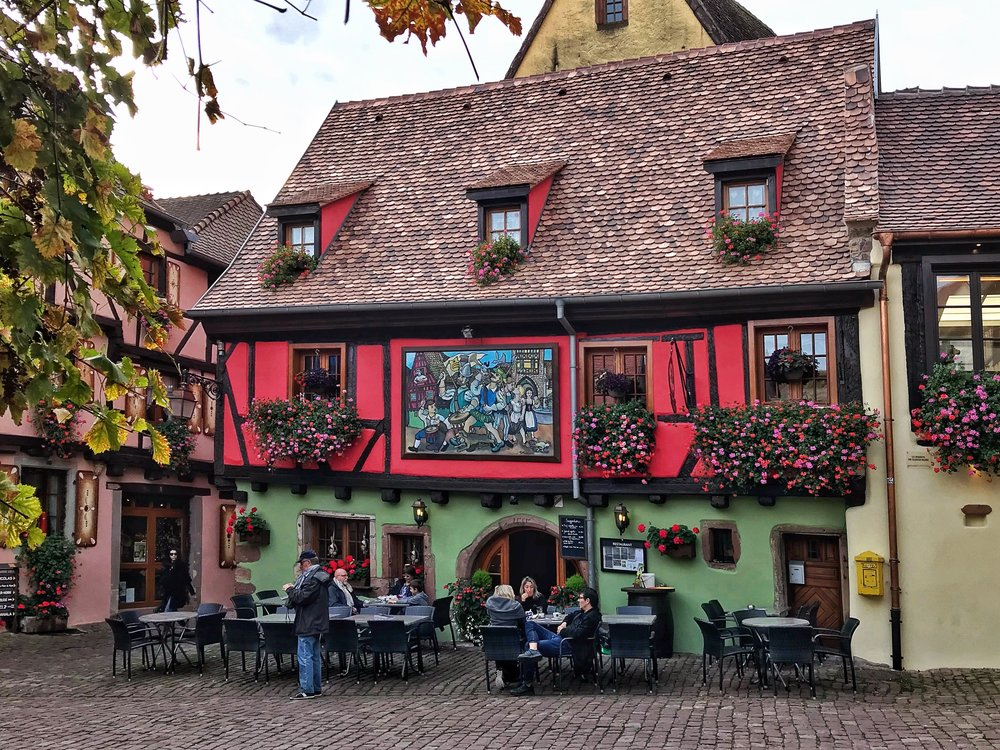 Riquewihr's architecture is miraculously preserved
