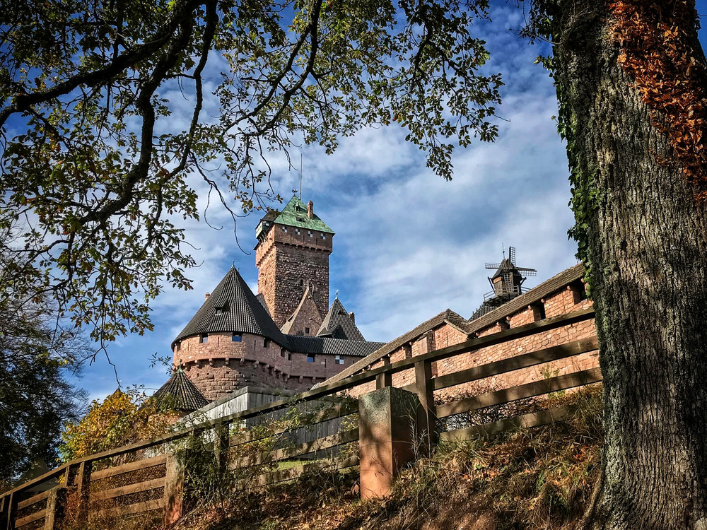 The Château du Haut-Kœnigsbourg, a medieval castle located near Orschwiller in the the Vosges mountains of northeastern France