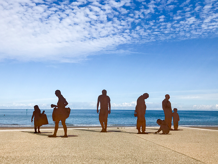 Sculptures on Colwyn Bay's new promenade