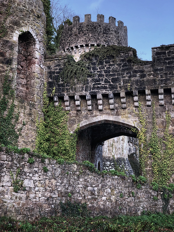 No shortage of of gates, arches and towers at Gwrych Castle